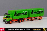 Herpa 168076 Spedition Kunze Dresden MAN F90 wisselkoffer combinatie