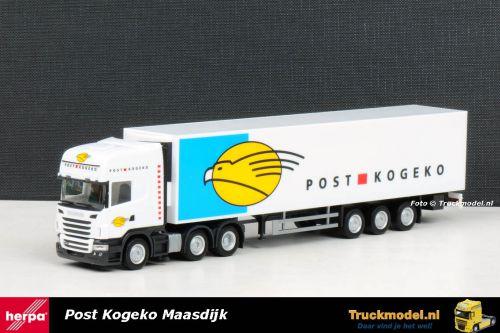 Herpa 1795 Post Kogeko Maasland Scania R Topline 6x2 koeloplegger
