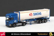 Herpa 1808 Ge Simons Scania Streamline Topline 40ft bulkcontainertrailer