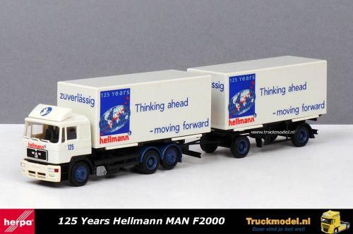 Herpa 223089 125 Years Hellmann Worldwide Logistics MAN F2000 wisselkoffer combinatie