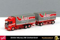 Herpa 234146 Schoni Scania 124 wisselbakken huifcombinatie