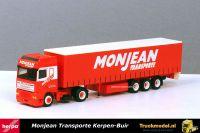 Herpa 234528 Monjean Transporte DAF 95XF SSC Schuifzeiltrailer