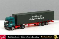 Herpa 238816 Sachsentrans Zwickau Mercedes SK 94 EuroCab schuifzeiloplegger
