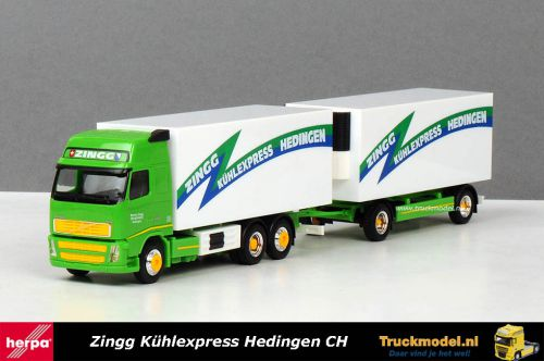 Herpa 273107 Zingg Kuhlexpress CH Volvo FH02 XL Koelcombinatie