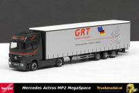 Herpa 280891 GRT Spedition Mercedes Actros MegaSpace lowdeck schuifzeiloplegger