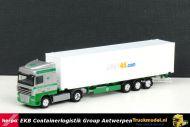 Herpa 302623 EKB Antwerpen DAF XF105 SC Unit 45 Reefer container oplegger