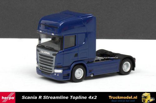 Herpa 302647 Scania R450 Streamline Topline 4x2 trekker Blauw