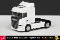 Herpa 302838-003 Scania R460 Streamline Highline 4x2 trekker wit