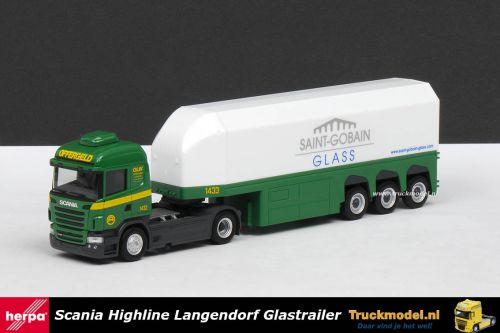 Herpa 303279 Offergeld Logistik Saint Gobain Scania R HL Glastransporter