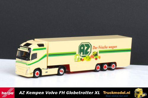 Herpa 303644 AZ Kempen Volvo FH Globetrotter XL Koeloplegger