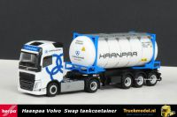 Herpa 303705 Haanpaa Volvo FH4 Swap Body Tankcontainer oplegger