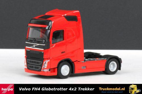 Herpa 303767 Volvo FH4 Globetrotter 4x2 trekker Rood