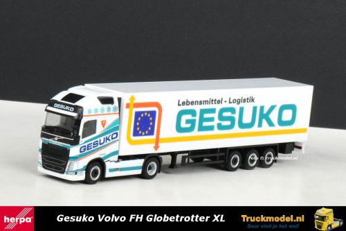 Herpa 303804 Gesuko Lebensmittel Logistik Volvo FH04 Globetrotter XL koeloplegger