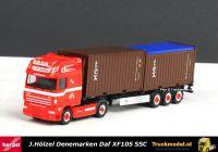 Herpa 303811 J.Holzel Vogt Tex DAF XF105 SSC 2x20ft containertrailer