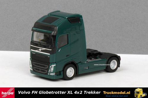 Herpa 303972-004 Volvo FH04 Globetrotter XL 4x2 Trekker Donker groen
