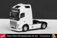 Herpa 304047-004 Volvo FH16-750 Globetrotter XL 4x2 trekker Wit met lampenbeugel