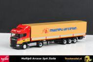 Herpa 304061 Multipli Arcese SpA Scania R500 Highline huifoplegger