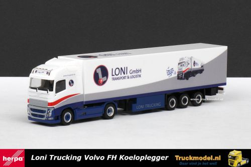 Herpa 304108 Loni GmbH Transport Logistik Volvo FH4 Globetrotter koeloplegger