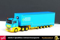 Herpa 304207 Siefert Spedition Schwertransporte MAN TGX 5 as Meusburger Dieplader volumetrailer
