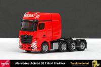 Herpa 304368-003 Mercedes Actros GigaSpace SLT 8x4 trekker Rood