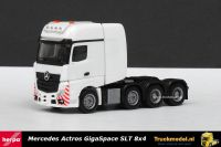 Herpa 304368 Mercedes Actros Gigaspace SLT 8x4 zwaartransporttrekker Wit