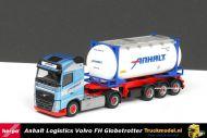 Herpa 304702 Anhalt Logistics Volvo FH4 Globetrotter Swap-Tankcontainer oplegger