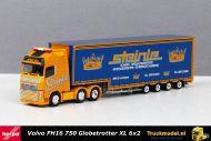 Herpa 305464 Steinle Spezial und Schwertransporte Volvo FH16 Meusburger dieplader