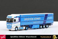 Herpa 305846 Spedition Hohner DAF XF Euro 6 Super Space Cab Schuifzeiloplegger