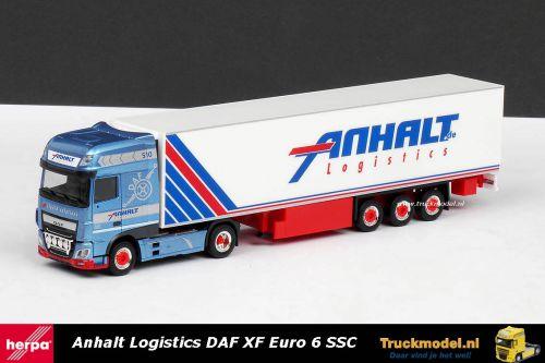 Herpa 306348 Anhalt Logistics Bargen DAF XF Euro 6 Super Space Cab koeltrailer
