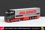 Herpa 306980 Kay Schultz Eggebek Volvo FH500 Globetrotter XL trekker schuifzeiloplegger