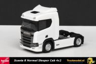 Herpa 307642 Scania R Normal Sleeper Cab 4x2 trekker wit