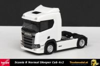 Herpa 307642 Scania R Normal Sleeper Cab 4x2 trekker wit