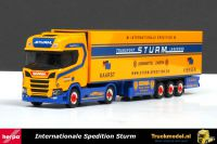Herpa 307826 Sturm Int Spedition Scania R Highline koeloplegger