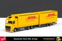 Herpa 307888 Deutsche Post DHL Group Volvo FH04 Globetrotter XL schuifzeil wipkar combi