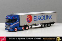 Herpa 308526 Eurolink Sweden Scania S Highline schuifzeiltrailer