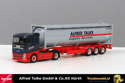 Herpa 309363 Alfred Talke Volvo FH04 40ft silocontainer trailer