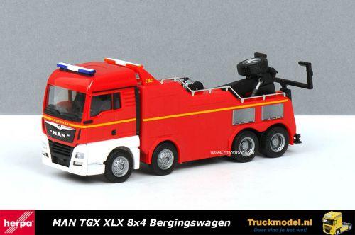 Herpa 309608 Feuerwehr MAN TGX XLX 8x4 Truck bergingswagen