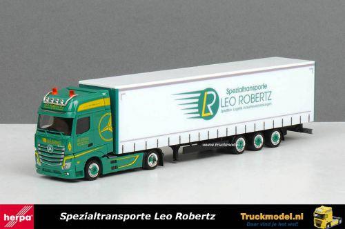 Herpa 309684 Leo Robertz Mercedes GigaSpace schuifzeiloplegger
