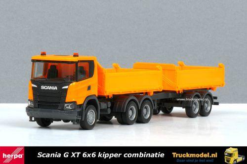 Herpa 309738 Scania G XT 6x6 3-Zijden kippercombinatie