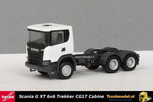 Herpa 309745 Scania G XT 6x6 trekker Wit