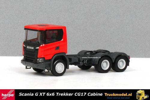 Herpa 309752 Scania G XT 6x6 trekker Rood