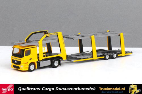 Herpa 309790 Qualitrans-Cargo Mercedes Eurolohr Cartransporter