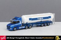 Herpa 309868 Forsgards Sweden Scania T5 kipper silotrailer