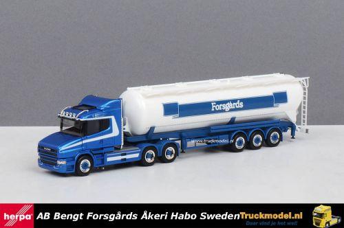 Herpa 309868 Forsgards Sweden Scania T5 kipper silotrailer