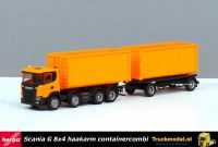 Herpa 309950 Scania haakarm container combi