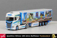 Herpa 309981 Spedition Hohner 200 Jahre Raiffeisen Scania S Schuifzeiltrailer