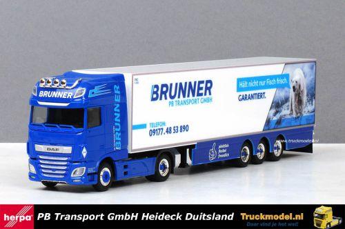 Herpa 310055 PB Transport GmbH DAF XF MY2017 SSC Koeltrailer