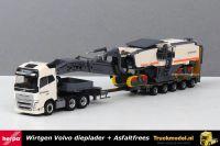 Herpa 310239 Wirtgen Volvo FH semi dieplader met Asfaltfreesmachine