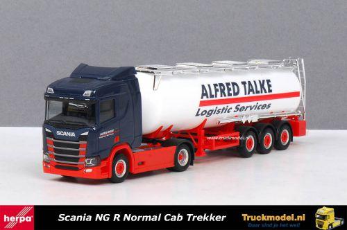 Herpa 310383 Alfred Talke Scania NG R Normal Cab trekker tankoplegger