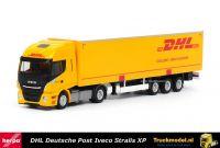 Herpa 311151 DHL Deutsche Post Iveco Stralis XP Schuifzeilentrailer